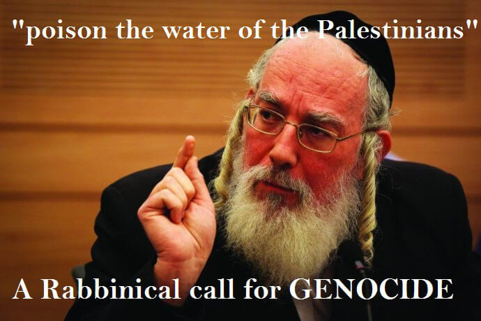 The Zionists DID Poison the Well !!