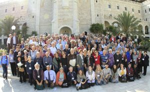 Friends of Sabeel at the 2013 International Sabeel Conference in Jerusalem- this friend of Sabeel and reporter is standing in the first row in black shirt with sunglasses on between the third and fourth ladies sitting in the front row left to right http://www.fosna.org/content/about-fosna