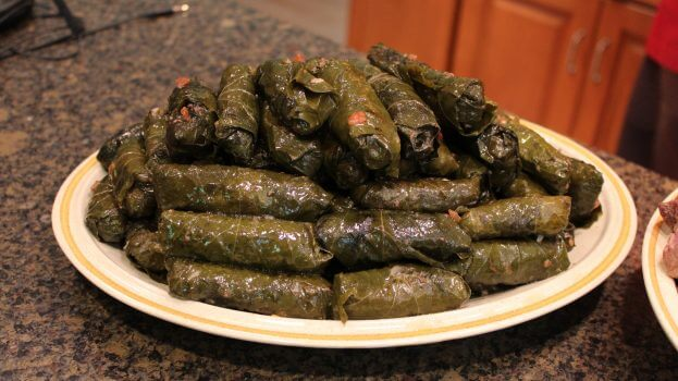 Middle East Recipes: Stuffed Grape Leaves