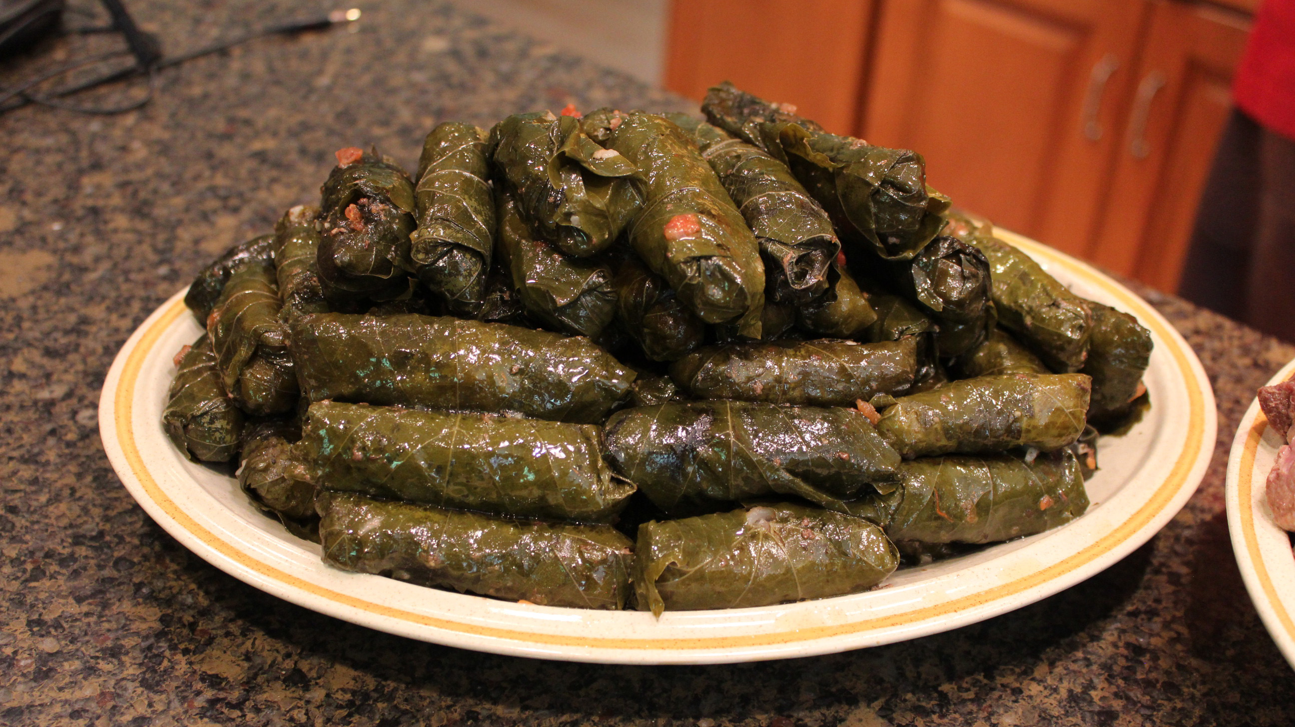 Middle east recipes stuffed grape leaves the arab daily for Aria persian cuisine