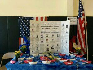USS LIBERTY Remembrance Board by friend of LIBERTY Jane Jewell
