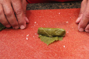 Wrapping a grape leaf (Lif Wariq duwally) 8