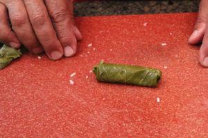 Wrapping a grape leaf (Lif Wariq duwally) 9