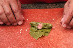 Wrapping a grape leaf (Lif Wariq duwally) 7