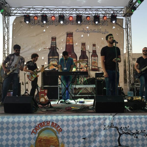 Mafar Band performs in Taybeh Palestine at Taybeh OctoberFest