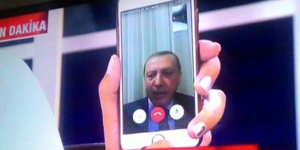Erdogan video denounces coup July 16, 2016