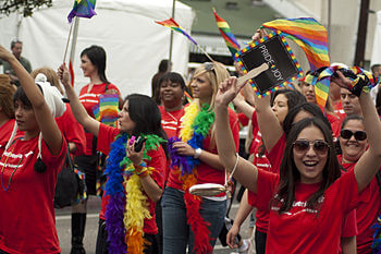 English: Bank of America at LA Pride 2011 (Jun...