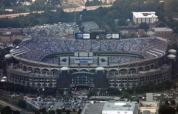 The Bank of America Stadium in Charlotte, N.C....
