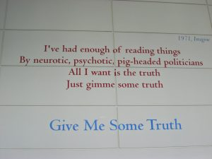 "John Lennon, ""Give Me Some Truth"""