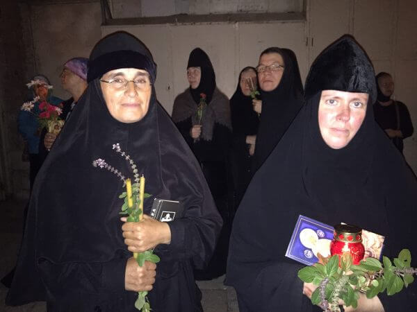 The procession focuses on walking with the icon of the Holy Mother of God led by hundreds of nuns and priests with candle light. Photo courtesy of Maria Khoury