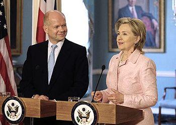 English: Secretary Clinton met with British Fo...