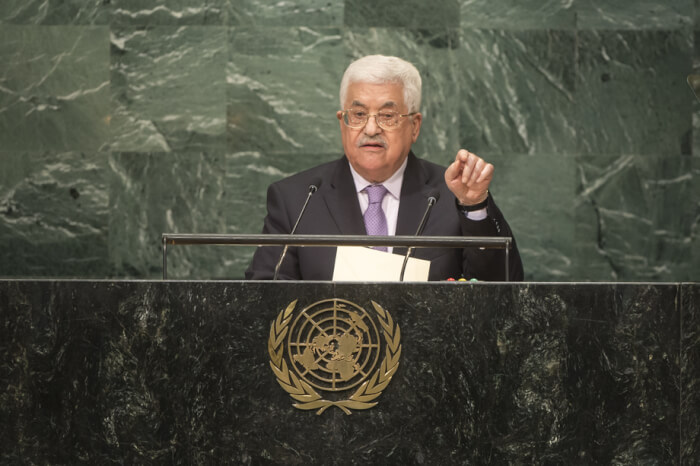 Mahmoud Abbas, president of the State of Palestine at the UN General Assembly on Sept. 22, 2016