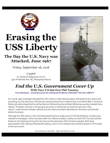 USS Liberty Veterans Trail of Tears and NEW Book