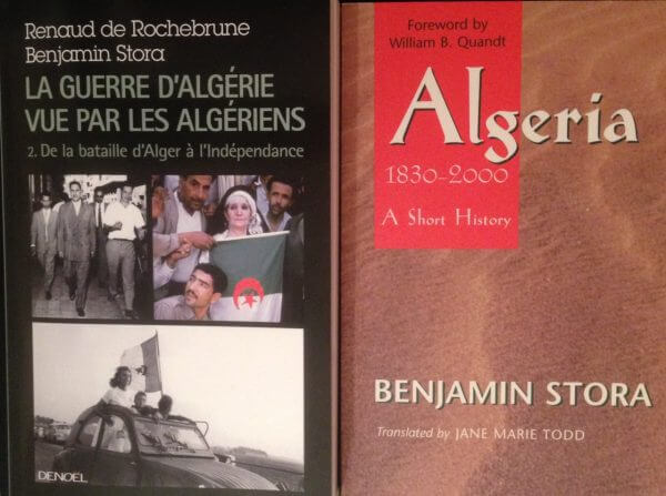 Benjamin Stora's book on Algeria. Photo courtesy of Abdennour Toumi