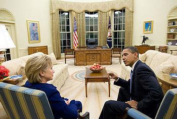 English: President Barack Obama and sec. of St...