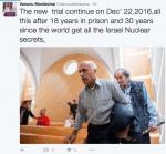 Mordechai Vanunu Could Be Free for Christmas
