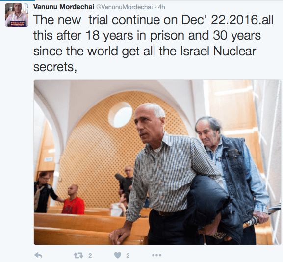 Mordechai Vanunu Could Be Free for Christmas
