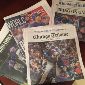 World Series newspapers Nov. 3, 2016