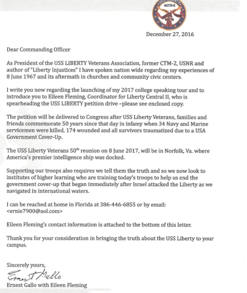 USS Liberty Veterans: Christmas Email and New Year Letter