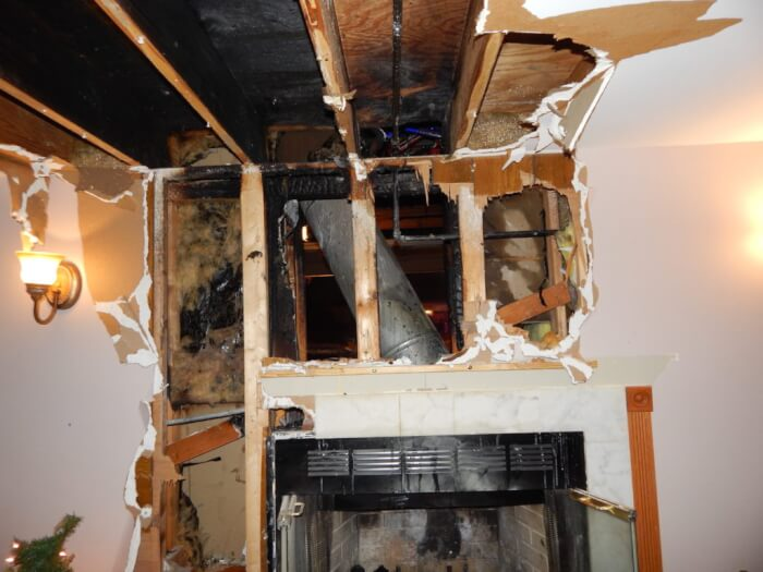 Home fire in Orland Park suspected cause Fire Place, 14100 block of Michael Dr. in Orland Park. Photo courtesy of the Orland Fire Protection District