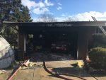 Fire at Orland Park home in the garage , 13827 80th Ave, that started near a Christmas Tree. Photo courtesy of the Orland Fire Protection District