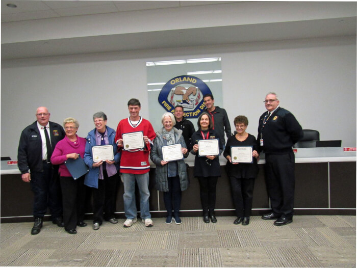 OFPD recognizes citizen graduates of district's emergency response training