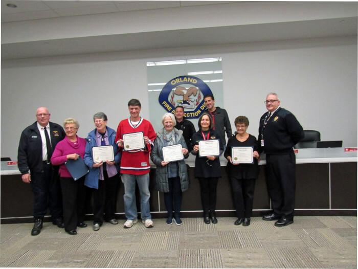 OFPD recognizes citizen graduates of district's emergency response training