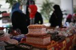 Palestinian women display handcrafts at heritage exhibit in the Gaza Strip. Photo courtesy of Mohammed Asad. All RightS Reserved. Permission granted to republish with attribution to the author