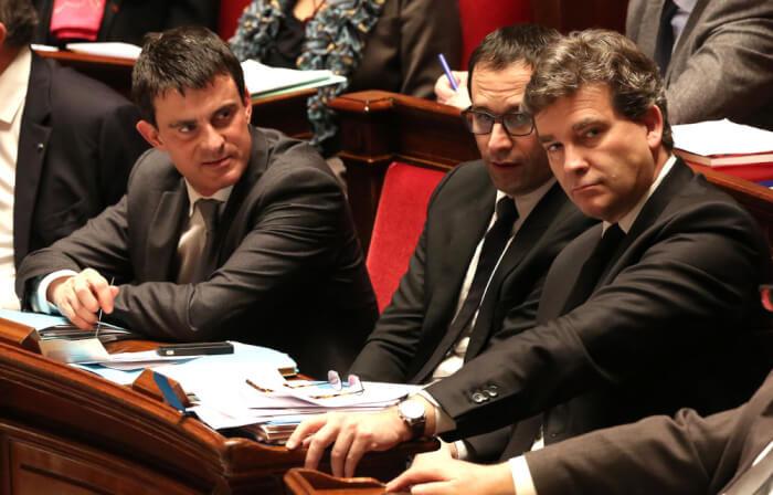 Algeria. Valls Hamon Montebourg. Photo courtesy Abdennour Toumi