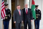 Vice President Pence meets with Jordan's King