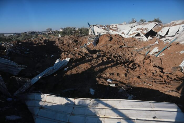 Widespread destruction in wake of Israeli attacks
