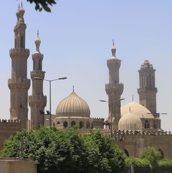 Cairo - Islamic district - Al Azhar Mosque and...