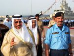 US Navy 030507-N-1050K-031 From left, Kuwait Defense Minister Sheikh Jaber al-Mubarak al-Sabah completes a troop review and inspection with Commander, Kuwait Naval Forces, Maj. Gen. Ahmed Y. al-Mulla during the Sheikh (Photo credit: Wikipedia)