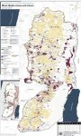 English: Detailed map of Israeli settlements on the West Bank, January 2006. Produced by the United Nations Office for the Coordination of Humanitarian Affairs - public UN source. Map Centre: http://www.ochaopt.org/?module=displaysection§ion_id=96&format=html (Photo credit: Wikipedia)