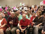 Republican Congressman Dennis Ross Overwhelmed at #TownHall Meeting #USSLiberty #WomensMarch #Resistance