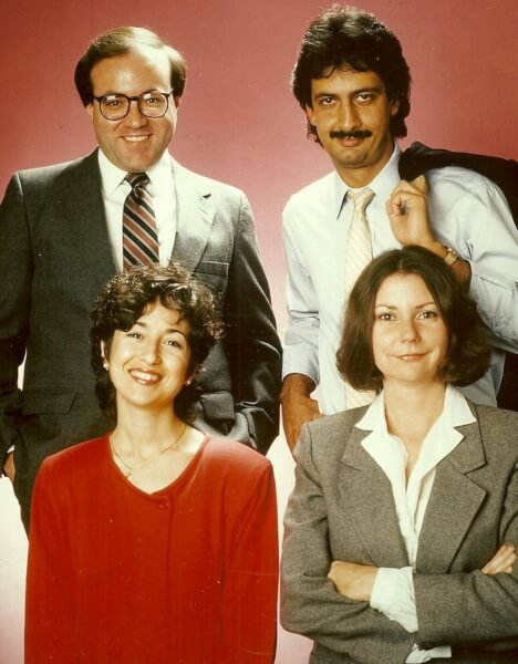 Official photo of the Page 10 Writers in 1985. Photo courtesy Ray Hanania