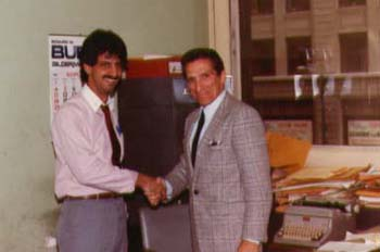 Ray Hanania and Harry Golden Jr., at City Hall in 1982. Photo courtesy of Ray Hanania