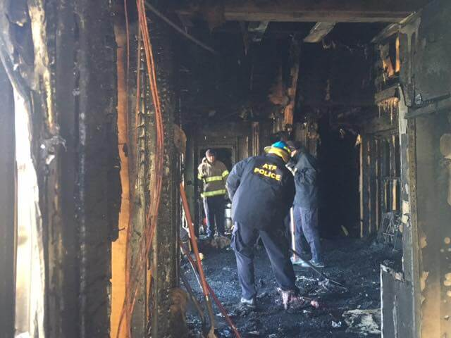 Pittsfield Islamic Center, near Ypsilanti, Michigan, was burned down March 11, 2017. Photo courtesy of the Bureau of Alcohol. Tobacco & Firearms (ATF) Facebook Page. https://www.facebook.com/HQATF/