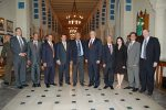 Special Envoy Gration with Amr Moussa, Secretary General of the Arab League (to SE Gration's right), and members of their staffs. (Photo credit: Wikipedia)