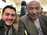Abdul El-Sayed with Congressman John Conyers. Photo courtesy of El-Sayed's Facebook Page