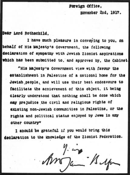 The Balfour Declaration and Brother Harold
