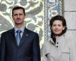 Terrorist Syrian leader Bashar al-Assad and his wife Asma al-Assad, who have used chemical weapons and violence to destroy any Syrian civilian who challenges his atrocities. (Photo credit: Wikipedia)