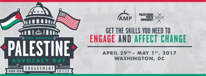 AMP Palestine Advocacy Day April 29 – May 1
