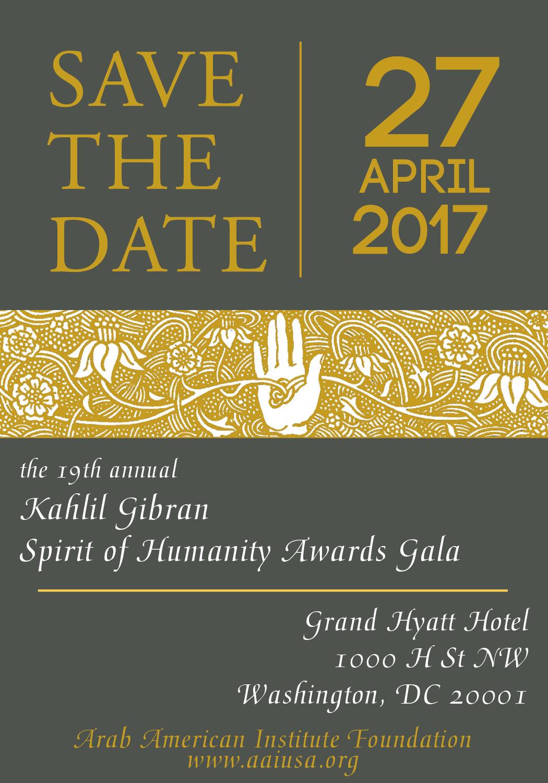 2017 Kahlil Gibran Spirit of Humanity Awards Gala