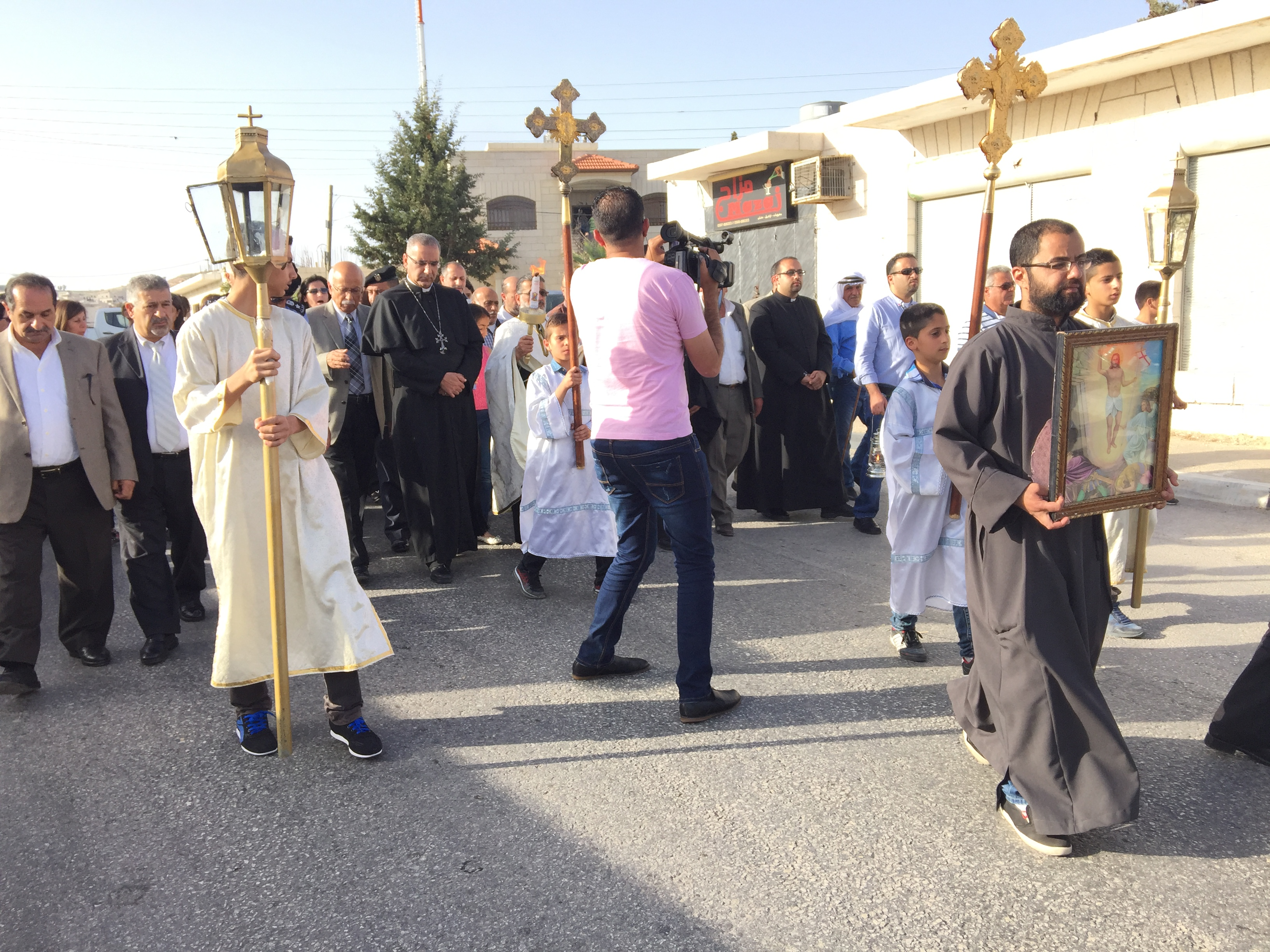 Christians in Taybeh, Palestine celebrate the religious Tradition of the Holy Fire. Photos courtesy of Maria C. Khoury