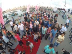 The 3rd Annual Red Carpet Festival in the Gaza Strip remembers major moments in Palestinian history, launched in 2015 marking the Israeli destruction of civilian homes in al-Shajaiya neighborhood east of Gaza City. Photo copyright Mohammed Asad. All Rights Reserved.