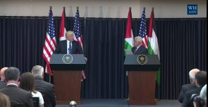 President Donald Trump meets with Palestinian President Mahmoud Abbas at the Presidential Palace in Israeli Occupied Bethlehem in the Palestinian territories on Tuesday May 23, 2017. Photo courtesy of the White House