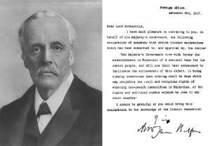 Balfour Declaration, Photo. Courtesy of the Palestine Solidarity Campaign