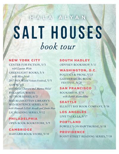 """Hala Alyan Book Tour 2017, """"Salt Houses"""""""