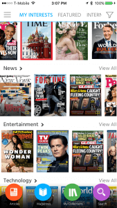 """Magzter App Image. Only magazines with the little Gold circle and """"m"""" are available to """"Gold"""" subscribers. If you knew that, you wouldn't subscribe to their pitch."""